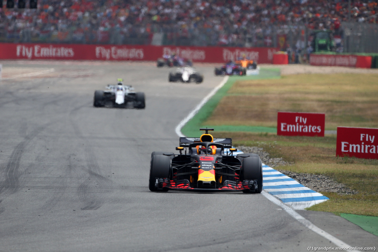 GP GERMANIA, 22.07.2018 - Gara, Daniel Ricciardo (AUS) Red Bull Racing RB14