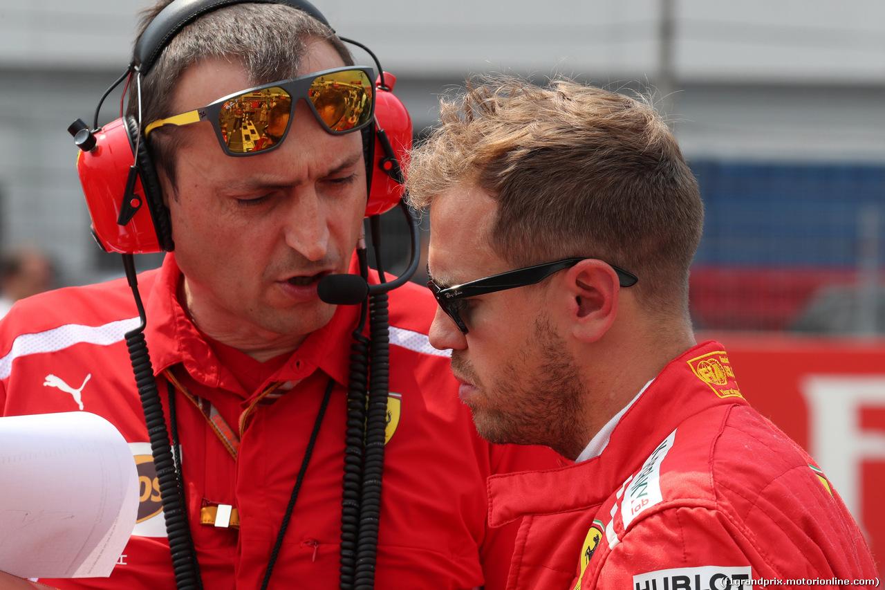 GP GERMANIA, 22.07.2018 - Gara, Riccardo Adami (ITA) Ferrari Gara Engineer e Sebastian Vettel (GER) Ferrari SF71H