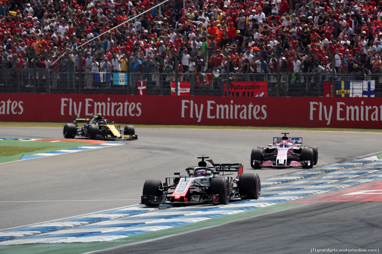 GP GERMANIA, 22.07.2018 - Gara, Romain Grosjean (FRA) Haas F1 Team VF-18