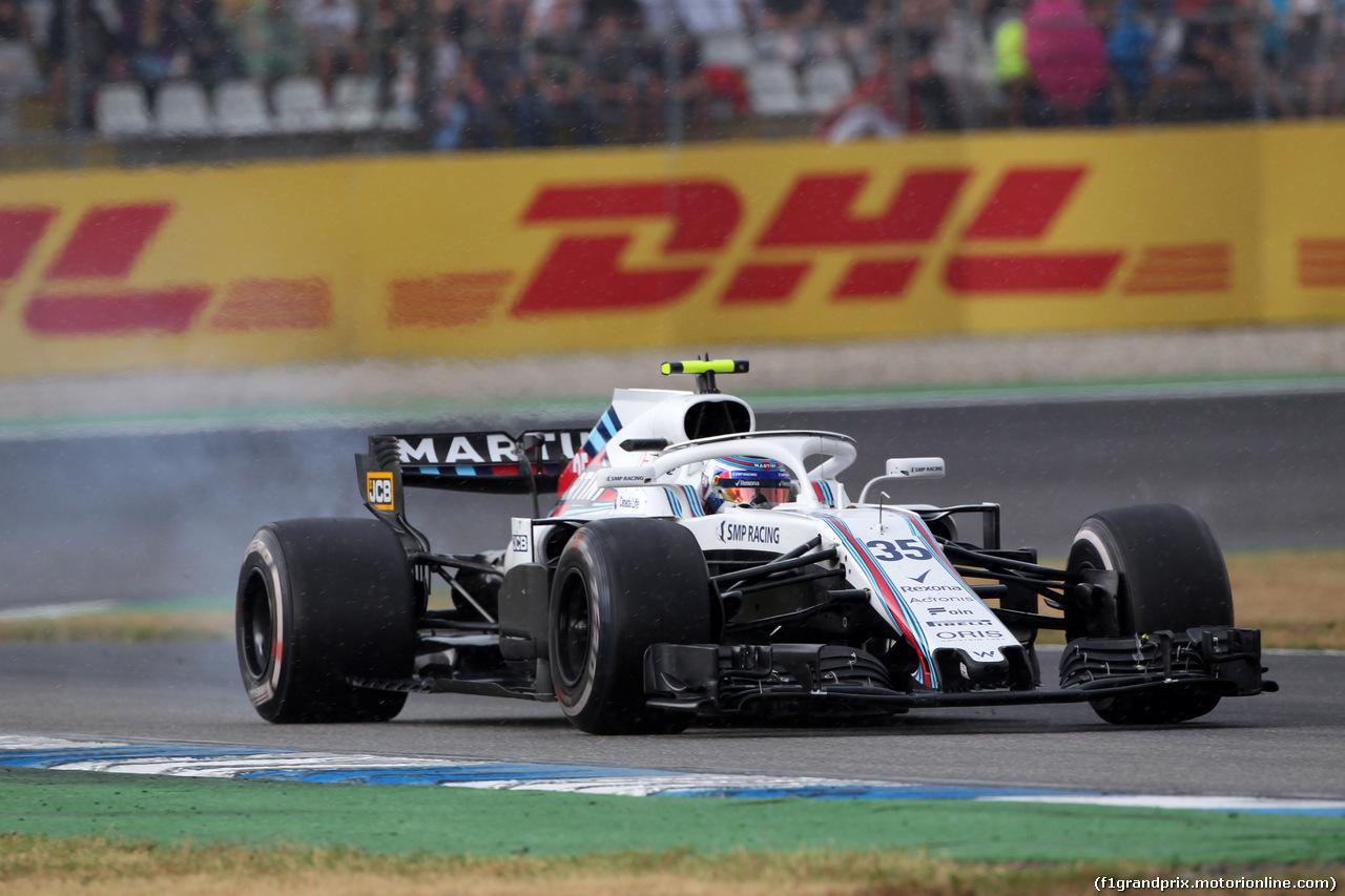 GP GERMANIA, 22.07.2018 - Gara, Sergey Sirotkin (RUS) Williams FW41 retires from the race