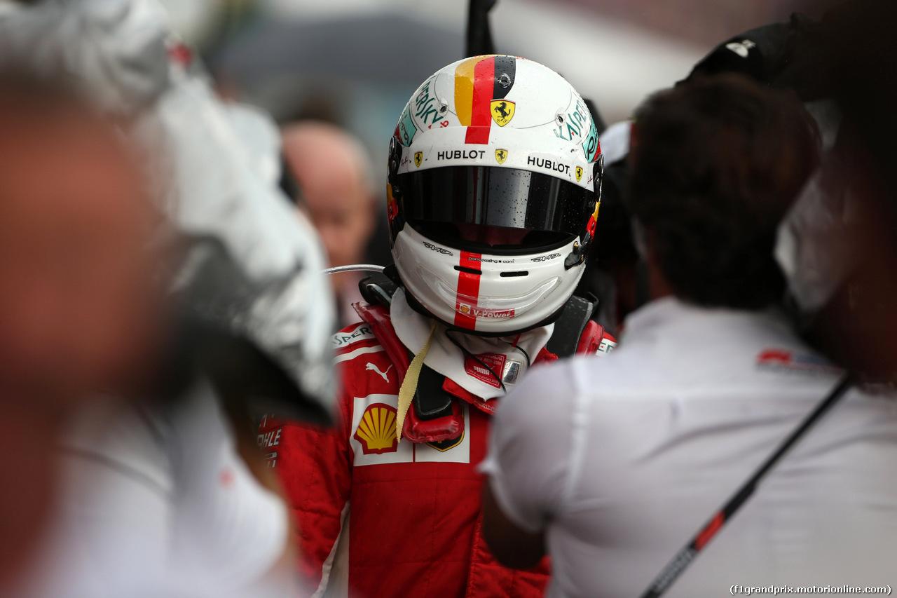 GP GERMANIA, 22.07.2018 - Gara, Sebastian Vettel (GER) Ferrari SF71H retires from the race