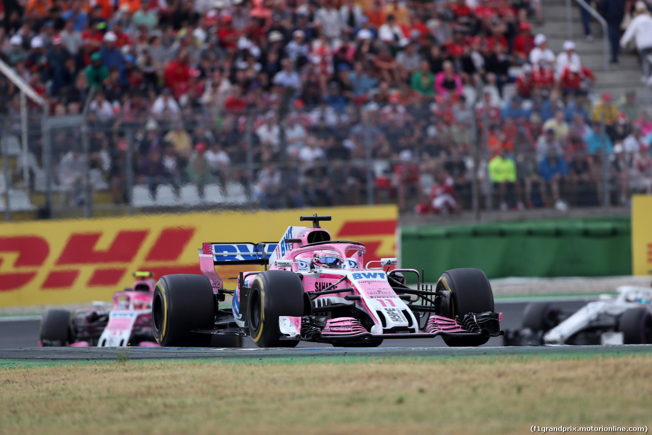GP GERMANIA, 22.07.2018 - Gara, Sergio Perez (MEX) Sahara Force India F1 VJM011