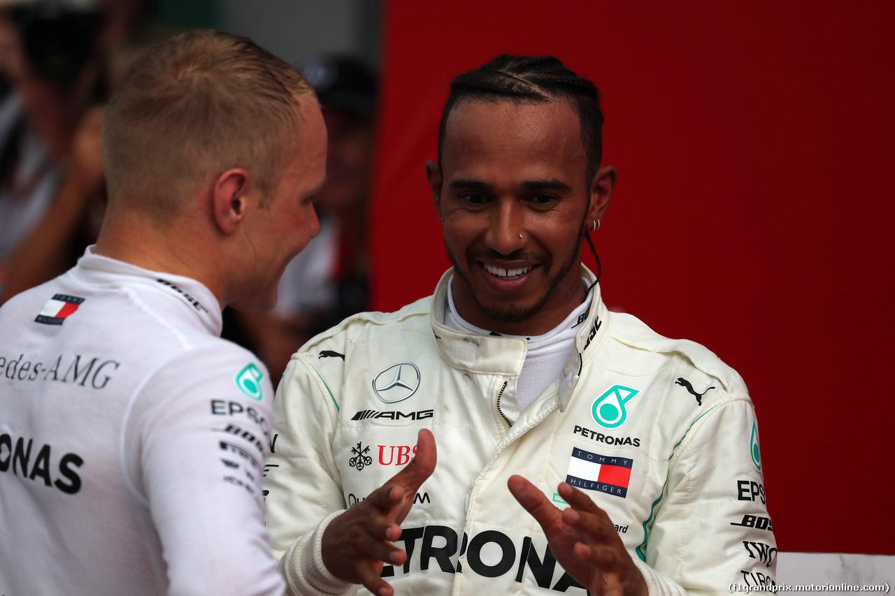 GP GERMANIA, 22.07.2018 - Gara, 2nd place Valtteri Bottas (FIN) Mercedes AMG F1 W09 e Lewis Hamilton (GBR) Mercedes AMG F1 W09 vincitore