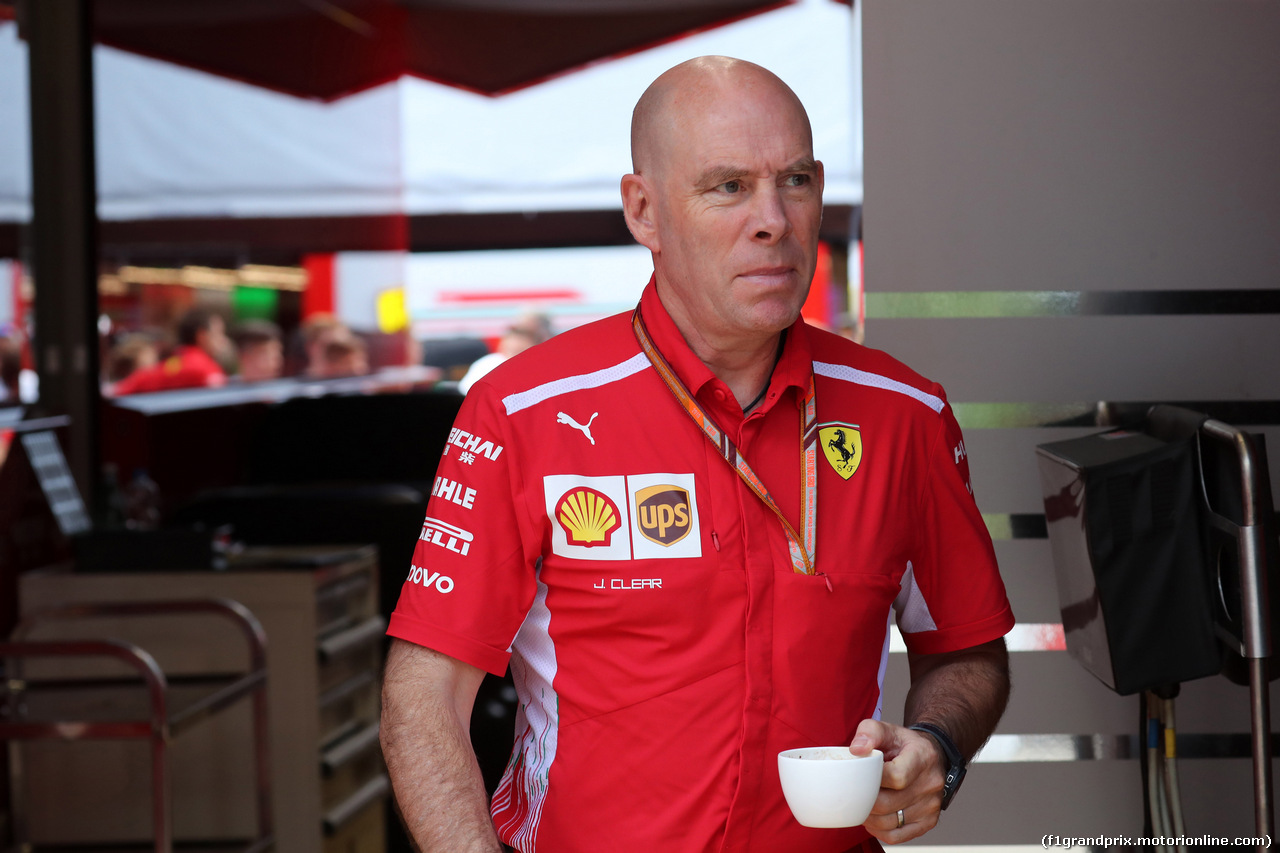 GP GERMANIA, 19.07.2018 - Jock Clear (GBR) Ferrari Engineering Director