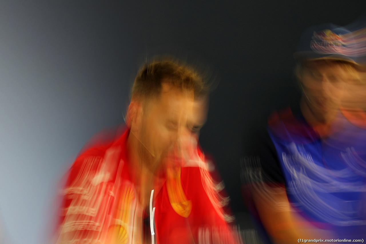 GP GERMANIA, 19.07.2018 - Conferenza Stampa, Sebastian Vettel (GER) Ferrari SF71H e Brendon Hartley (NZL) Scuderia Toro Rosso STR13