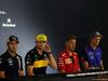 GP GERMANIA, 19.07.2018 - Conferenza Stampa, Sergio Perez (MEX) Sahara Force India F1 VJM011, Nico Hulkenberg (GER) Renault Sport F1 Team RS18, Sebastian Vettel (GER) Ferrari SF71H e Brendon Hartley (NZL) Scuderia Toro Rosso STR13