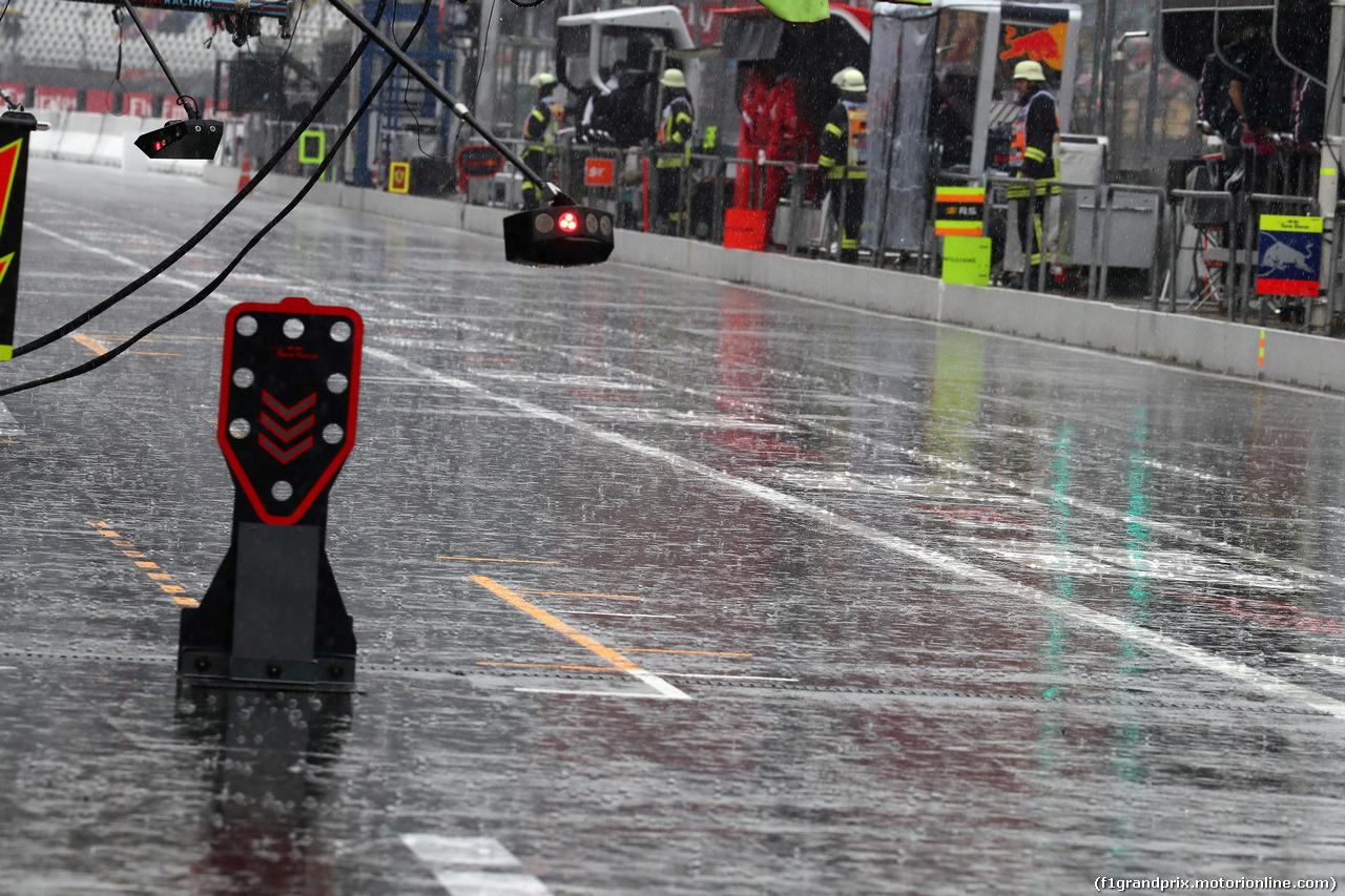 GP GERMANIA, 21.07.2018 - Prove Libere 2, Rain falls in the pits