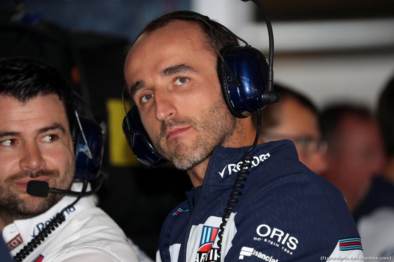 GP GERMANIA, 21.07.2018 - Prove Libere 2, Robert Kubica (POL) Williams FW41 Reserve e Development Driver