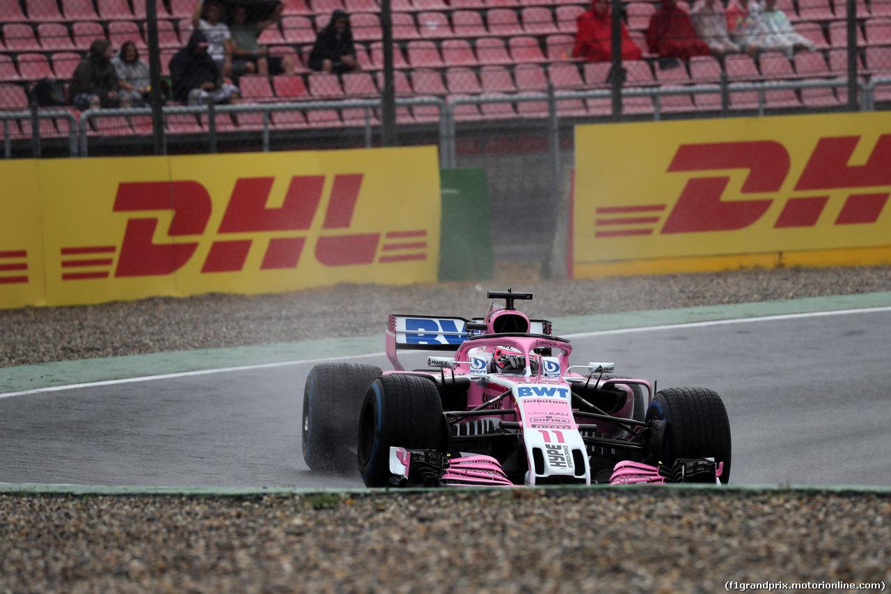GP GERMANIA, 21.07.2018 - Prove Libere 2, Sergio Perez (MEX) Sahara Force India F1 VJM011