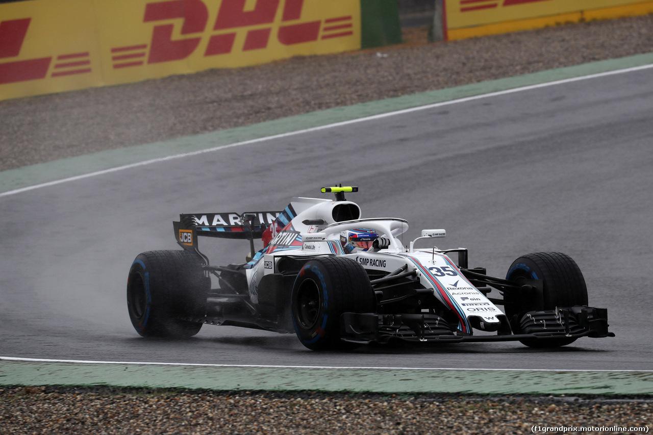 GP GERMANIA, 21.07.2018 - Prove Libere 2, Sergey Sirotkin (RUS) Williams FW41