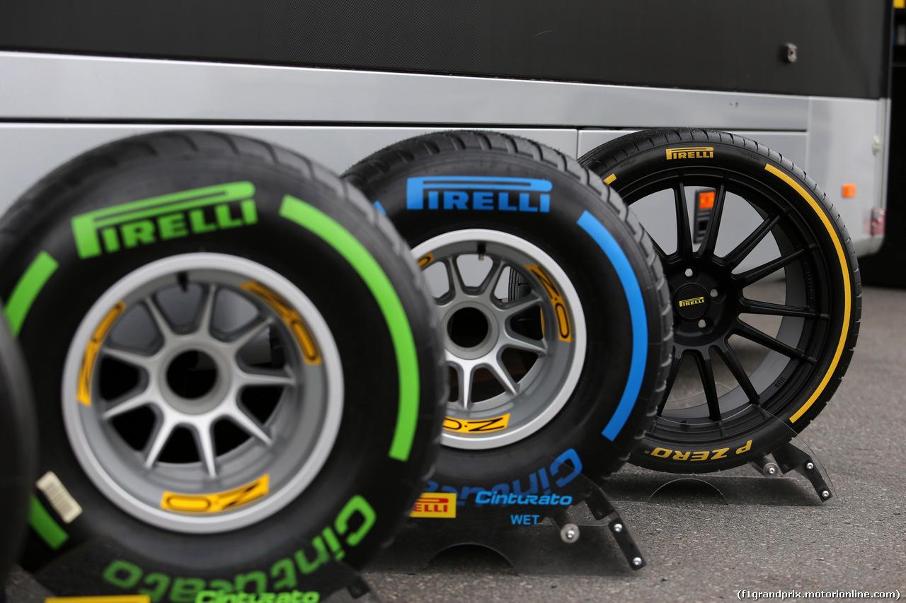 GP GERMANIA, 21.07.2018 - Prove Libere 2, Pirelli Tyres
