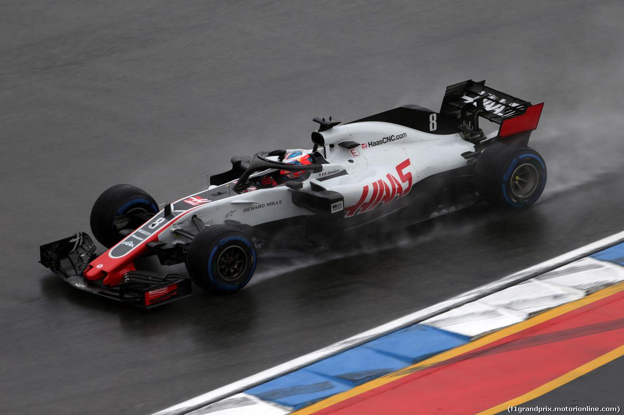 GP GERMANIA, 21.07.2018 - Prove Libere 2, Romain Grosjean (FRA) Haas F1 Team VF-18