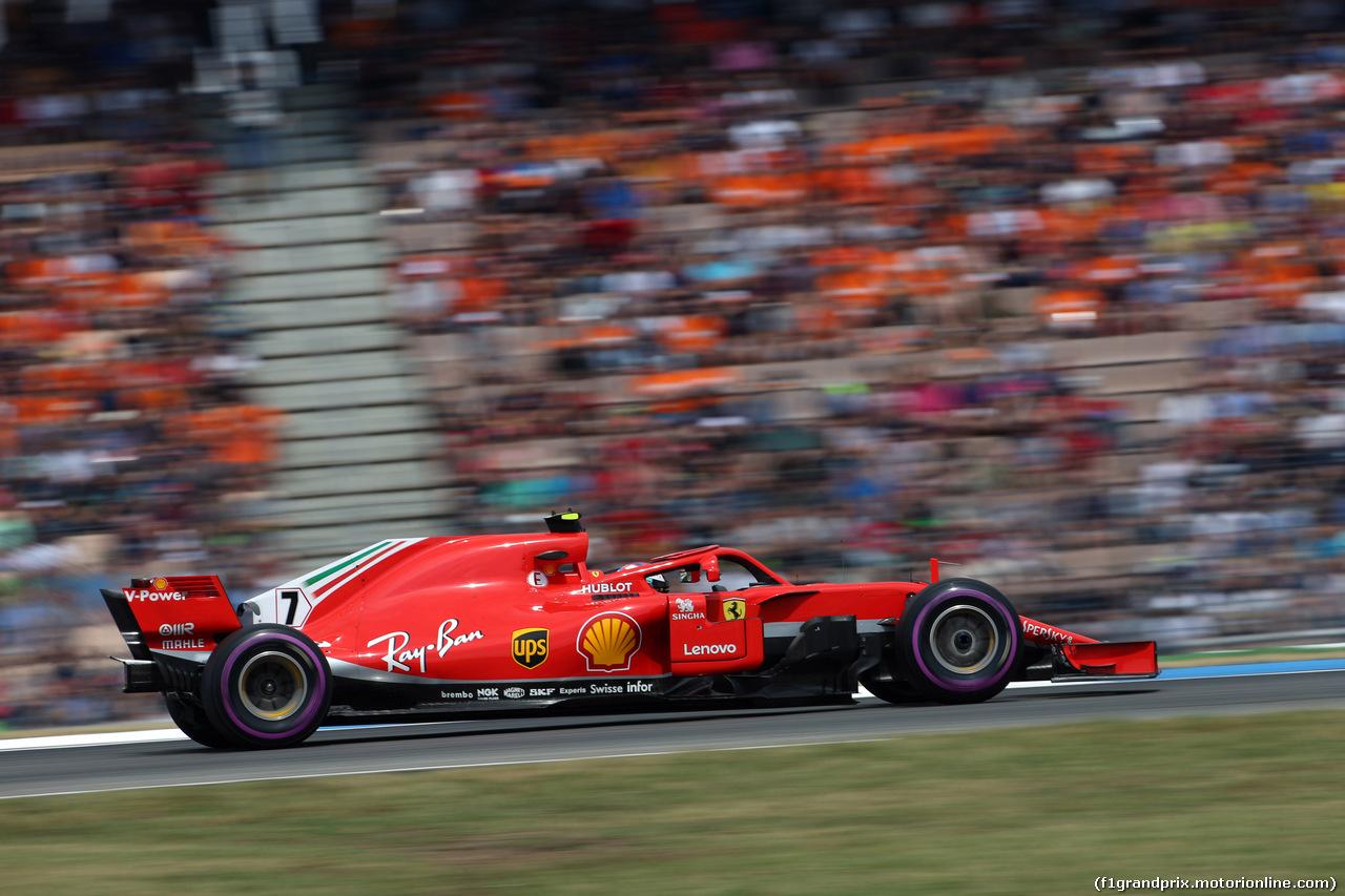 GP GERMANIA, 21.07.2018 - Qualifiche, Kimi Raikkonen (FIN) Ferrari SF71H