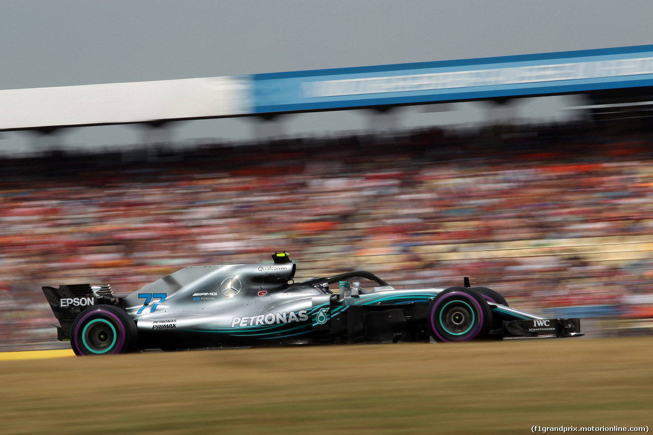 GP GERMANIA, 21.07.2018 - Qualifiche, Valtteri Bottas (FIN) Mercedes AMG F1 W09