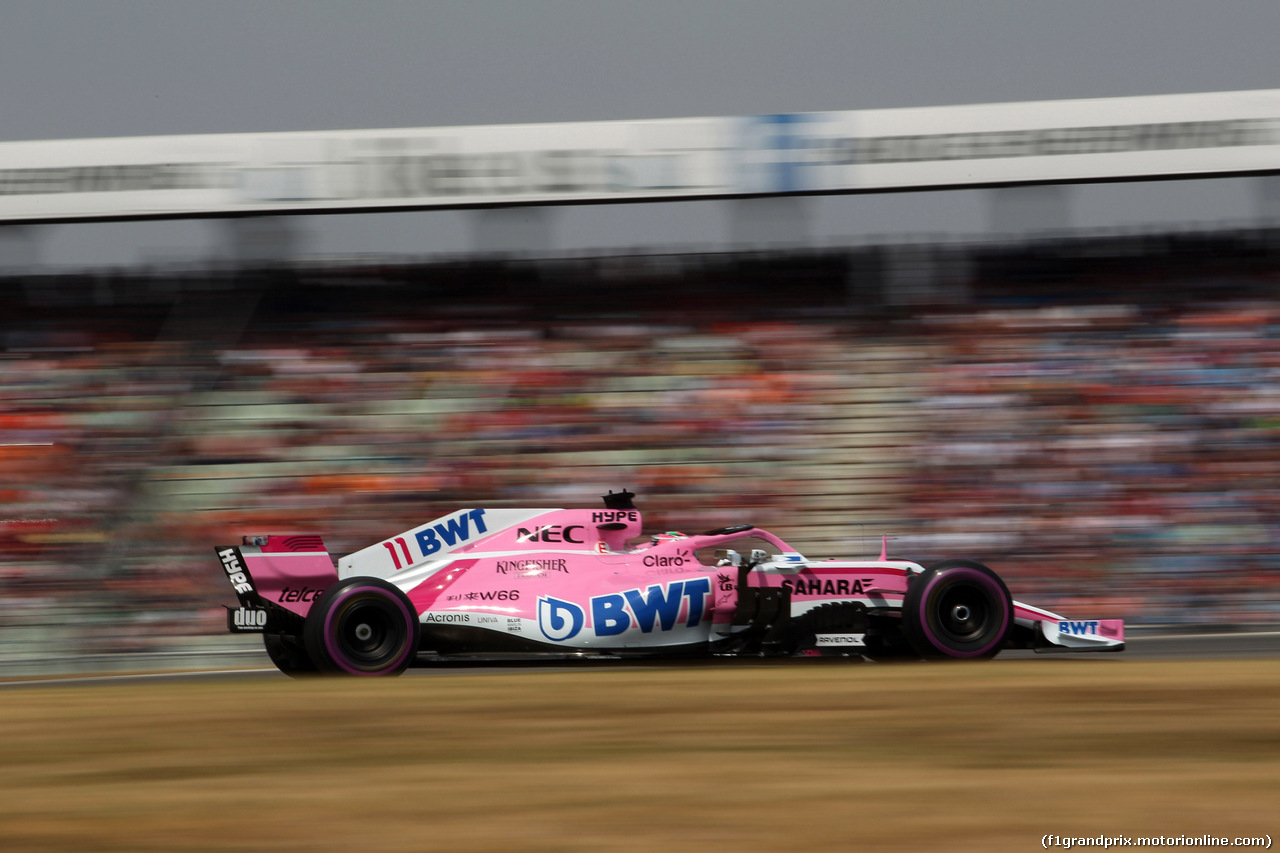GP GERMANIA, 21.07.2018 - Qualifiche, Sergio Perez (MEX) Sahara Force India F1 VJM011