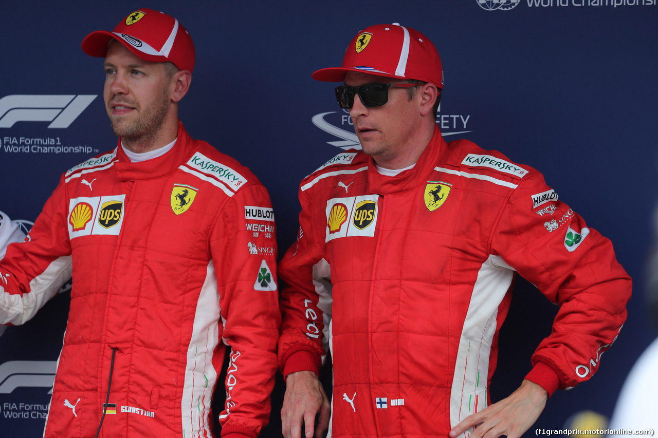 GP GERMANIA, 21.07.2018 - Qualifiche, Sebastian Vettel (GER) Ferrari SF71H pole position e 3rd place