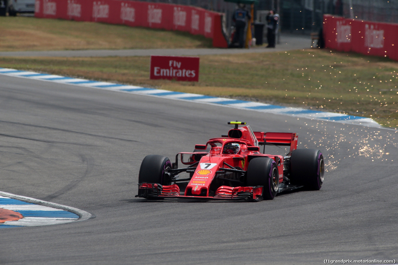 GP GERMANIA, 21.07.2018 - Qualifiche, Kimi Raikkonen (FIN) Ferrari SF71H