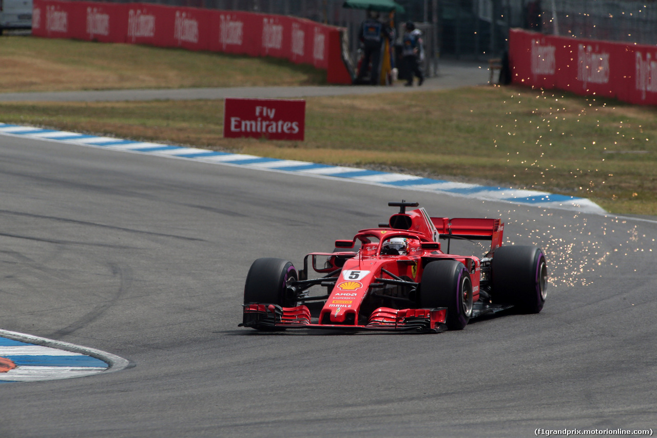GP GERMANIA, 21.07.2018 - Qualifiche, Sebastian Vettel (GER) Ferrari SF71H