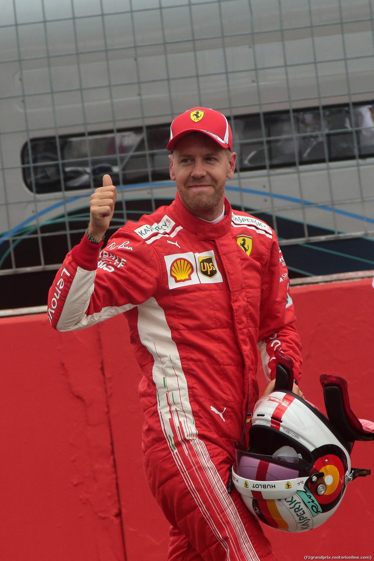GP GERMANIA, 21.07.2018 - Qualifiche, Sebastian Vettel (GER) Ferrari SF71H pole position