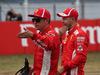 GP GERMANIA, 21.07.2018 - Qualifiche, 3rd place Kimi Raikkonen (FIN) Ferrari SF71H e Sebastian Vettel (GER) Ferrari SF71H pole position