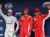 GP GERMANIA, 21.07.2018 - Qualifiche, 2nd place Valtteri Bottas (FIN) Mercedes AMG F1 W09, Sebastian Vettel (GER) Ferrari SF71H pole position e 3rd place Kimi Raikkonen (FIN) Ferrari SF71H