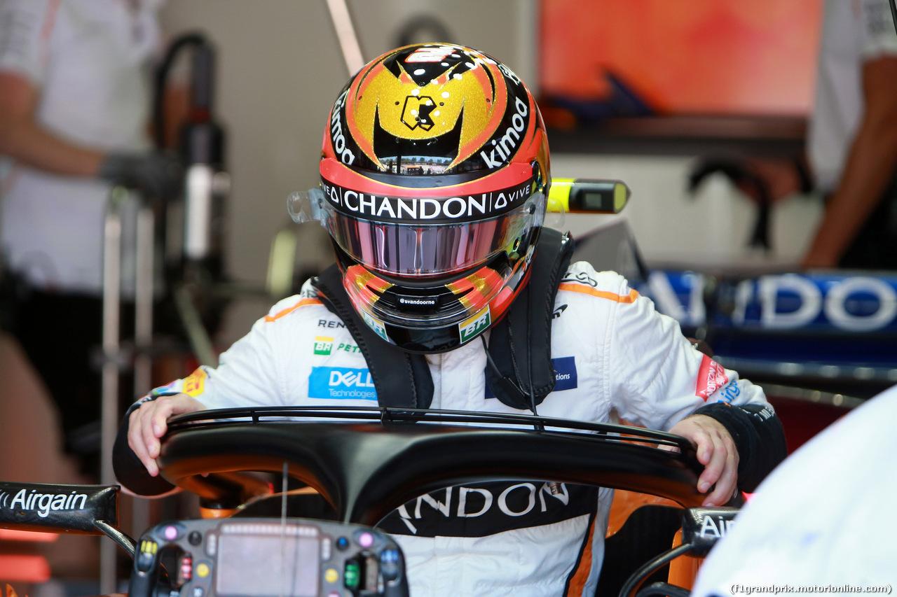 GP GERMANIA, 20.07.2018 - Prove Libere 1, Stoffel Vandoorne (BEL) McLaren MCL33