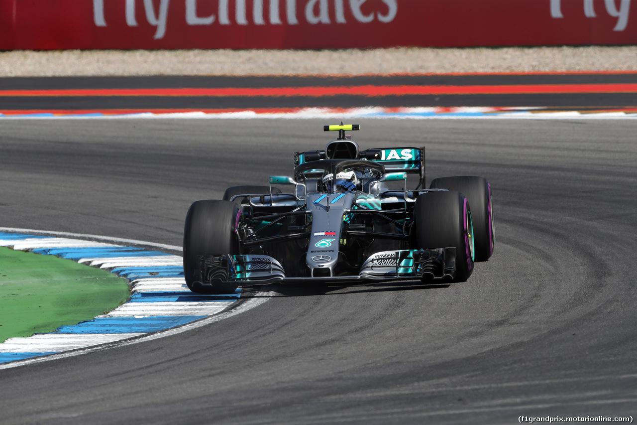 GP GERMANIA, 20.07.2018 - Prove Libere 2, Valtteri Bottas (FIN) Mercedes AMG F1 W09