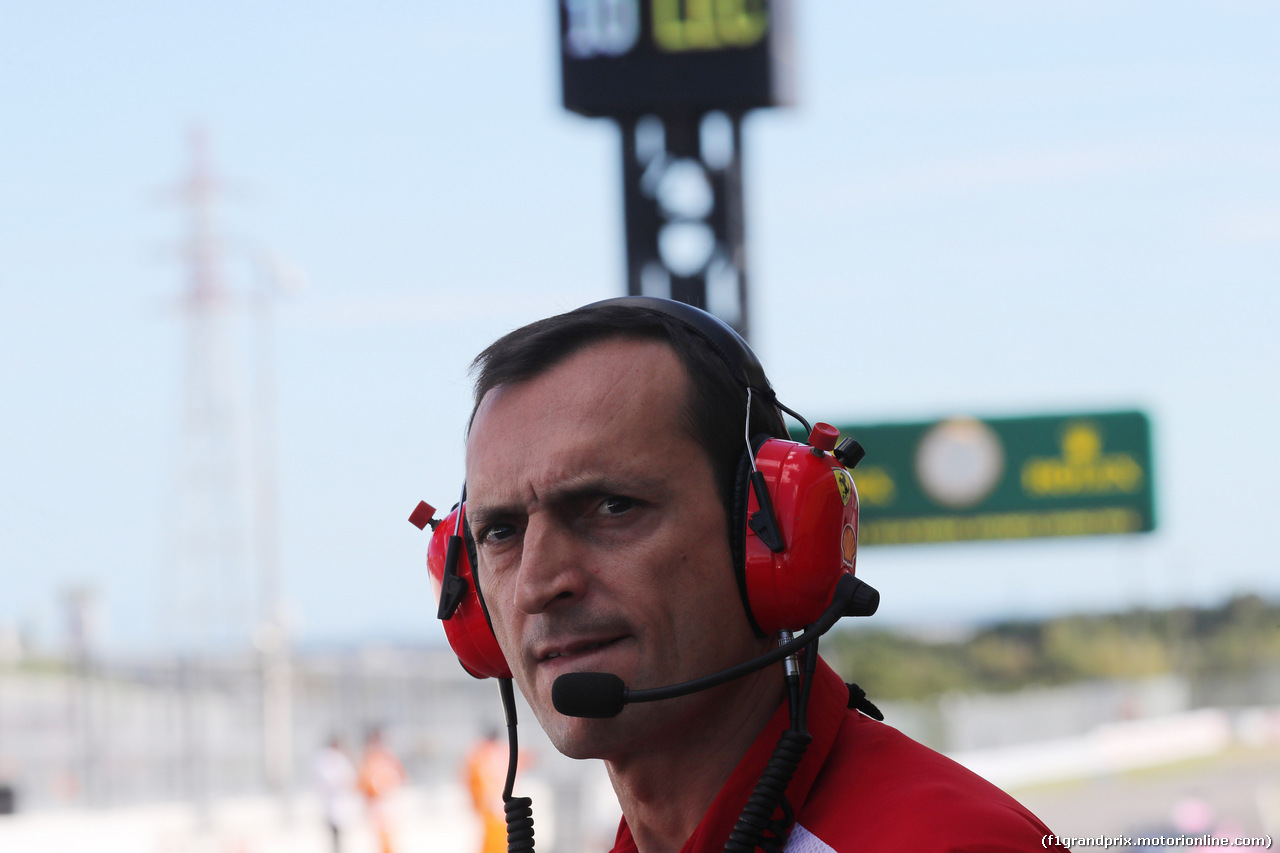 GP GIAPPONE, 07.10.2018 - Gara, Riccardo Adami (ITA) Ferrari Gara Engineer