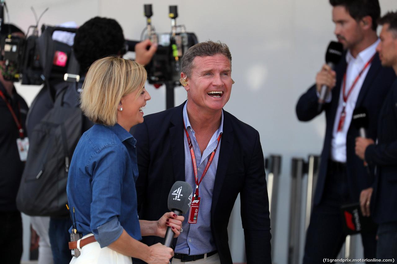 GP GIAPPONE, 07.10.2018 - Gara, Susie Wolff (GBR) e David Coulthard (GBR)