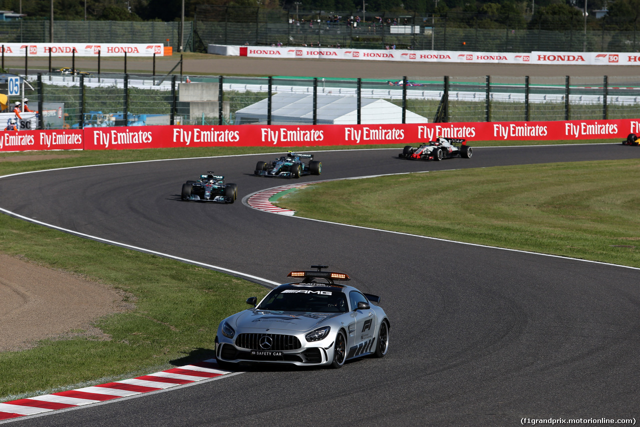 GP GIAPPONE, 07.10.2018 - Gara, The Safety car