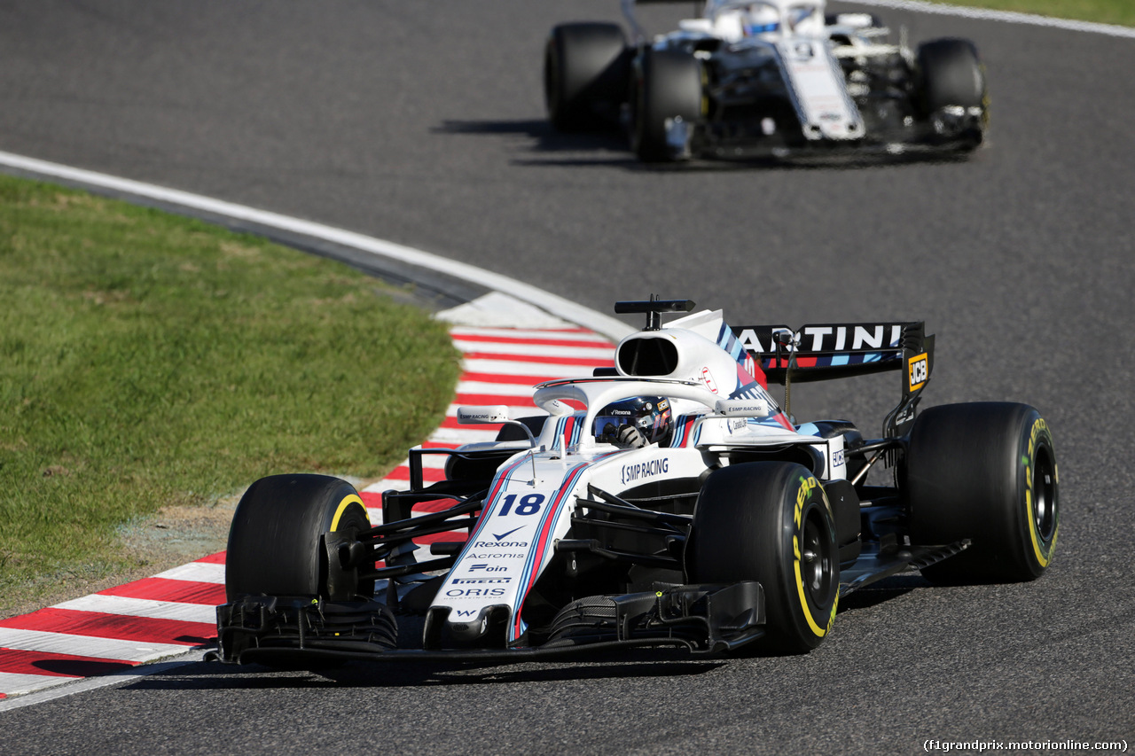 GP GIAPPONE, 07.10.2018 - Gara, Lance Stroll (CDN) Williams FW41
