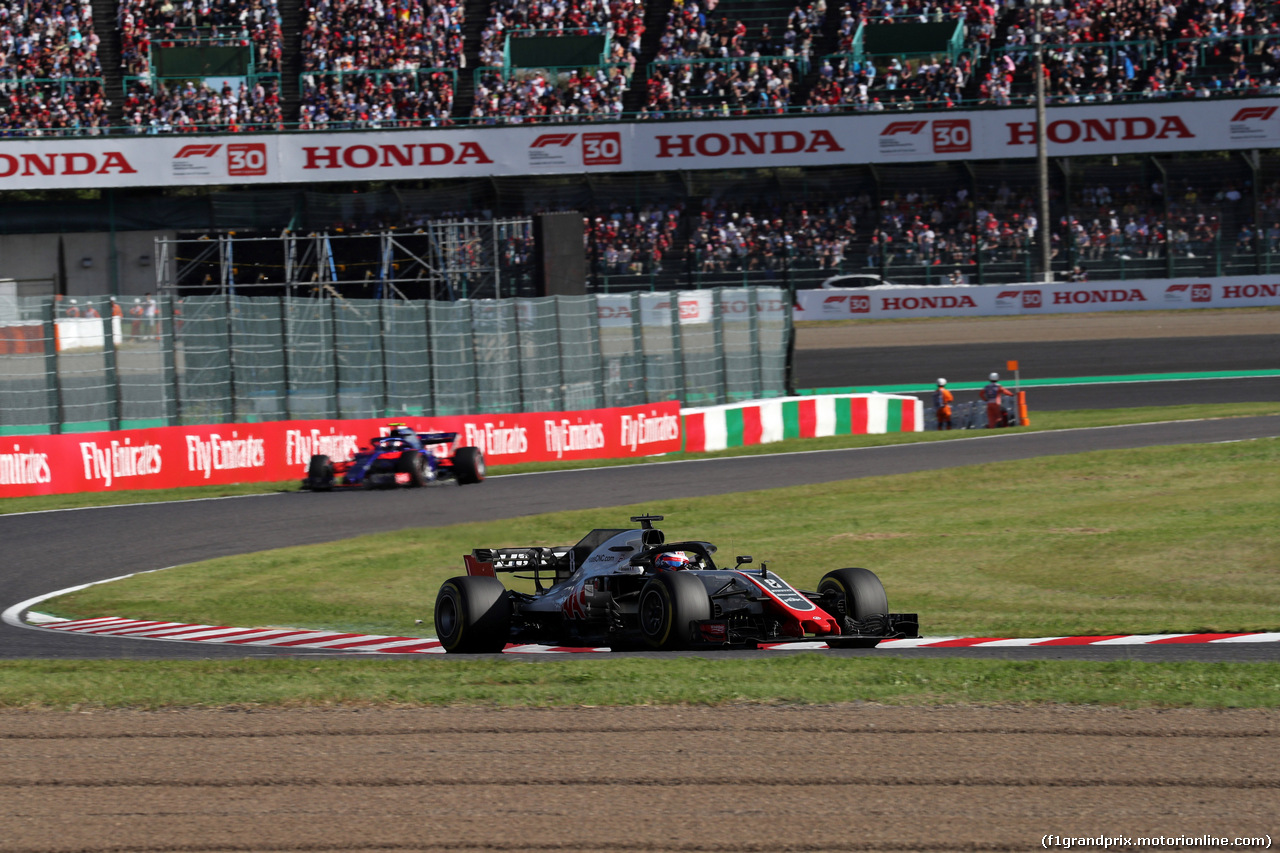GP GIAPPONE, 07.10.2018 - Gara, Romain Grosjean (FRA) Haas F1 Team VF-18