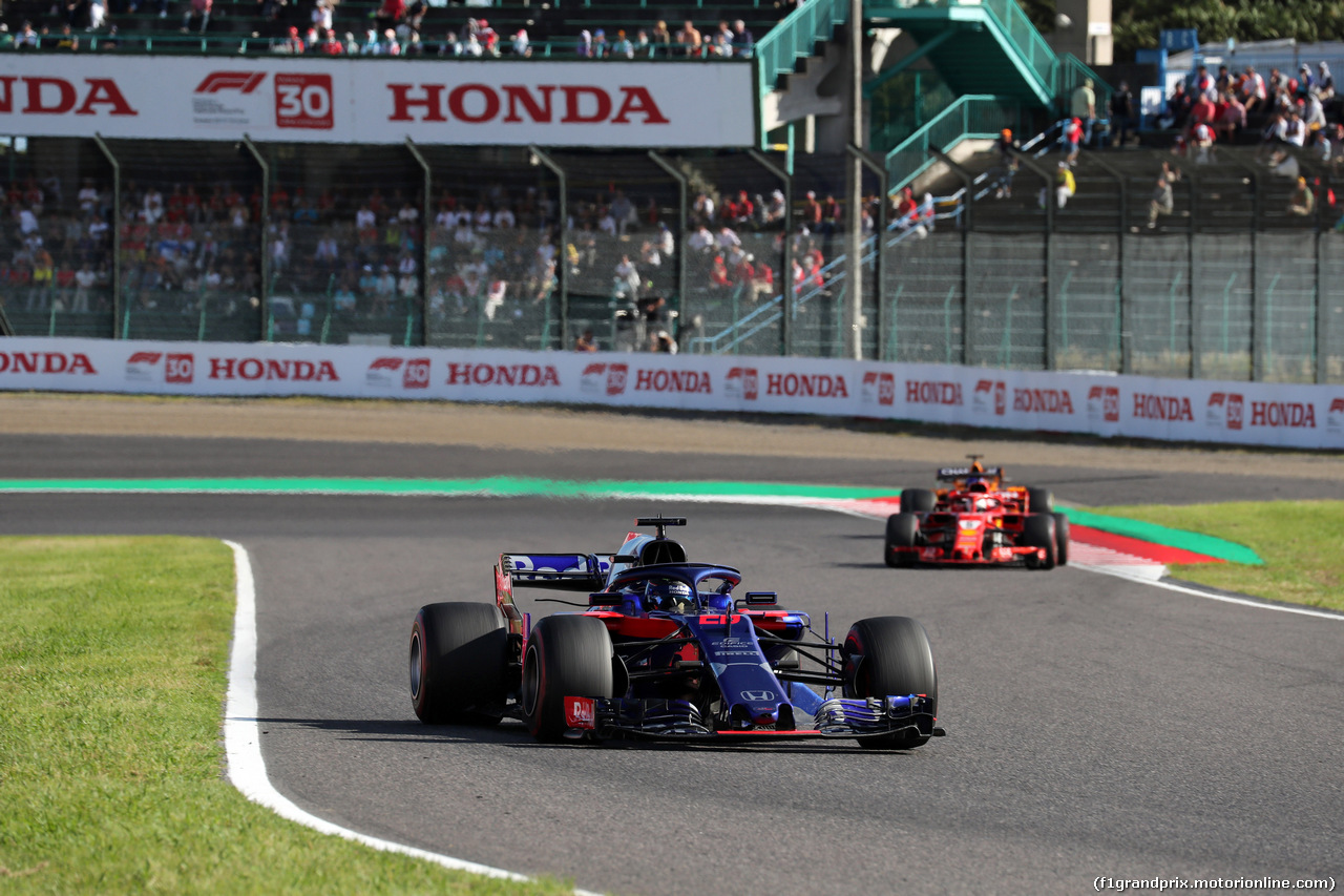 GP GIAPPONE, 07.10.2018 - Gara, Brendon Hartley (NZL) Scuderia Toro Rosso STR13
