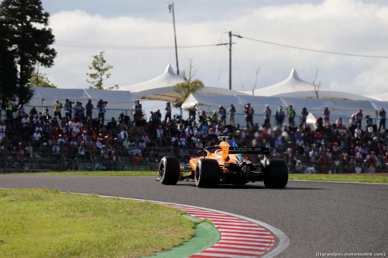 GP GIAPPONE, 07.10.2018 - Gara, Stoffel Vandoorne (BEL) McLaren MCL33
