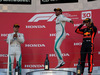 GP GIAPPONE, 07.10.2018 - Gara, 2nd place Valtteri Bottas (FIN) Mercedes AMG F1 W09, Lewis Hamilton (GBR) Mercedes AMG F1 W09 vincitore e 3rd place Max Verstappen (NED) Red Bull Racing RB14