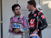 GP GIAPPONE, 07.10.2018 - Gara, Sergio Perez (MEX) Racing Point Force India F1 VJM11 e Romain Grosjean (FRA) Haas F1 Team VF-18