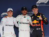 GP GIAPPONE, 06.10.2018 - Qualifiche, 2nd place Valtteri Bottas (FIN) Mercedes AMG F1 W09, Lewis Hamilton (GBR) Mercedes AMG F1 W09 pole position e 3rd place Max Verstappen (NED) Red Bull Racing RB14