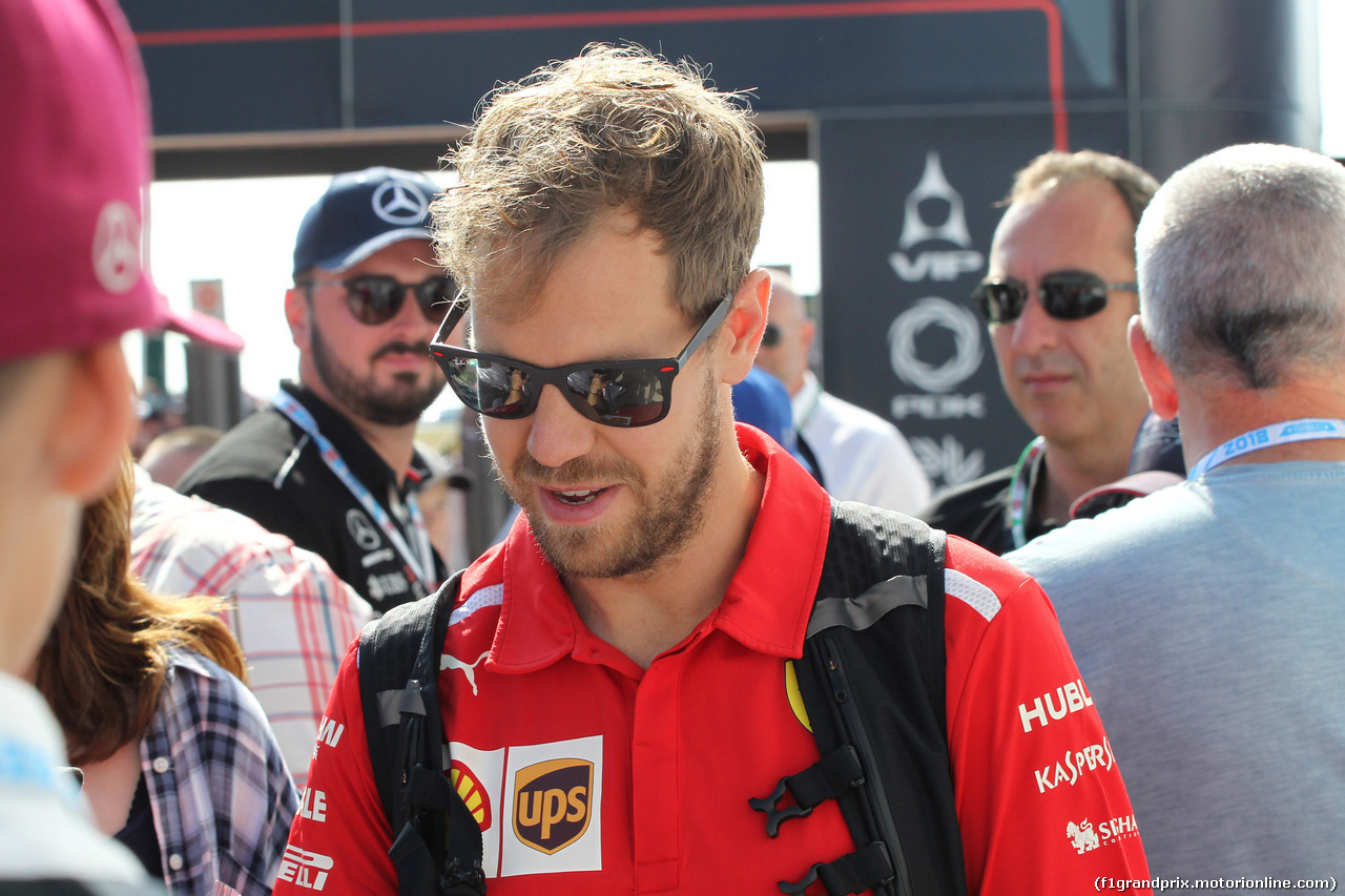 GP GRAN BRETAGNA, 08.07.2018- Sebastian Vettel (GER) Ferrari SF71H