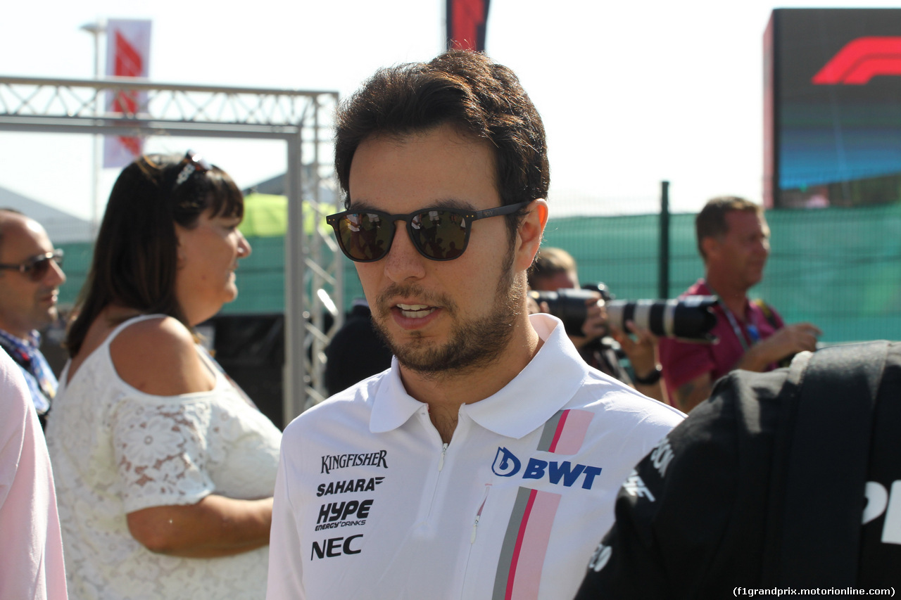 GP GRAN BRETAGNA, 08.07.2018- Sergio Perez (MEX) Sahara Force India F1 VJM11