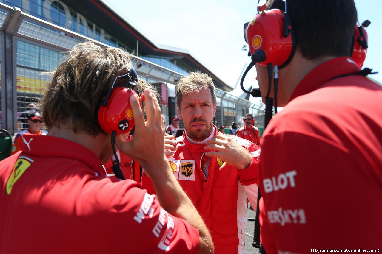 GP GRAN BRETAGNA, 08.07.2018- Gara, Sebastian Vettel (GER) Ferrari SF71H