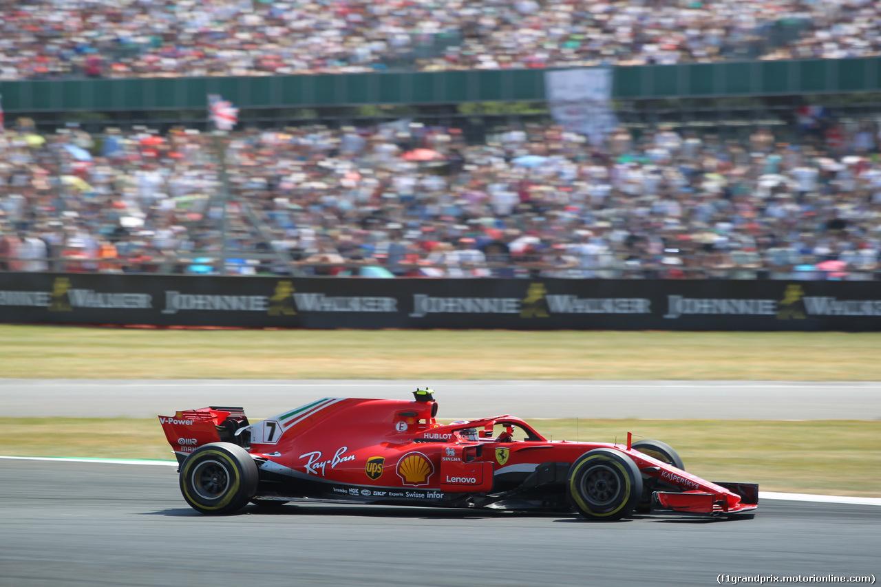 GP GRAN BRETAGNA, 08.07.2018- Gara, Kimi Raikkonen (FIN) Ferrari SF71H