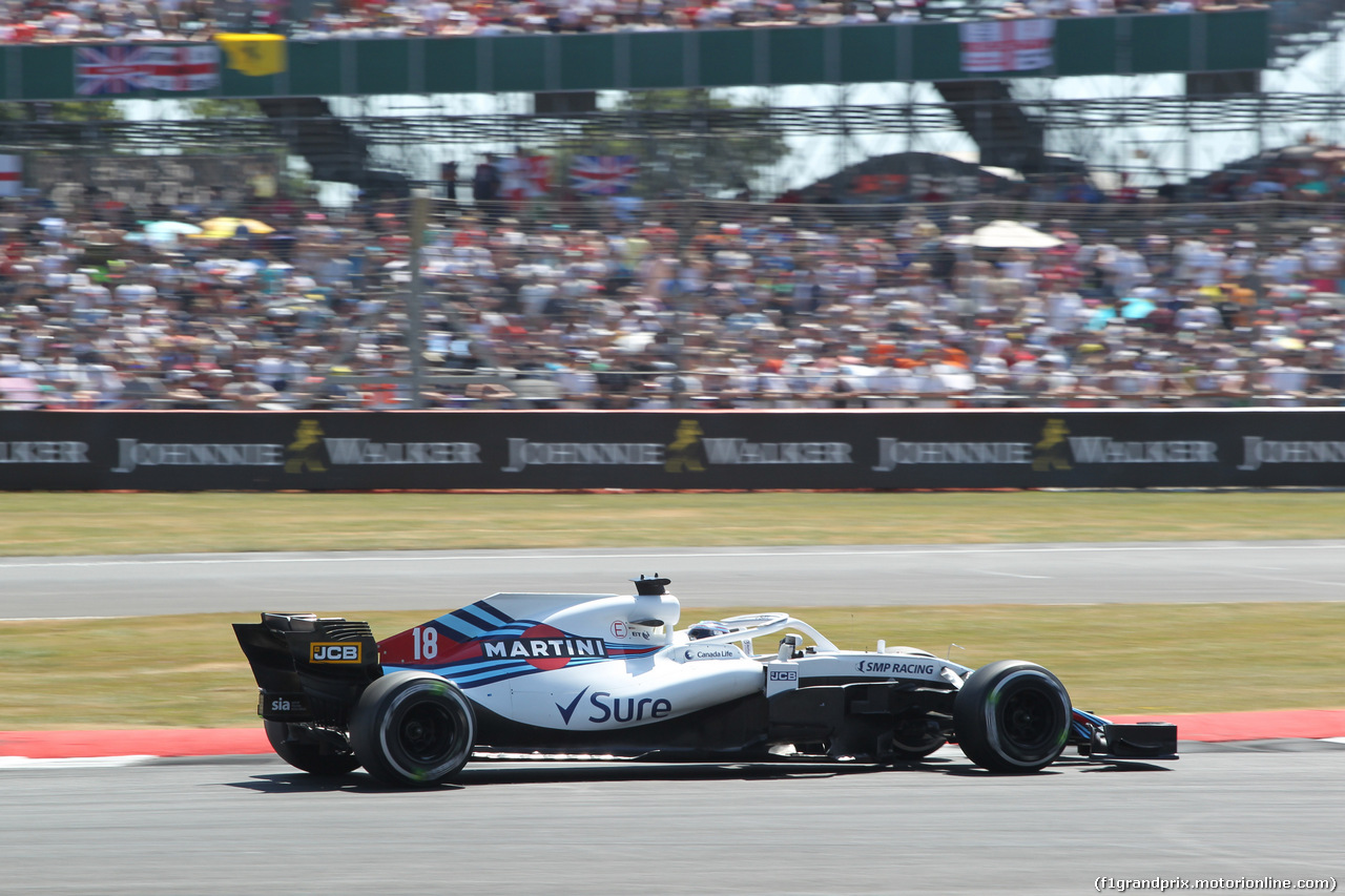 GP GRAN BRETAGNA, 08.07.2018- Gara, Lance Stroll (CDN) Williams FW41