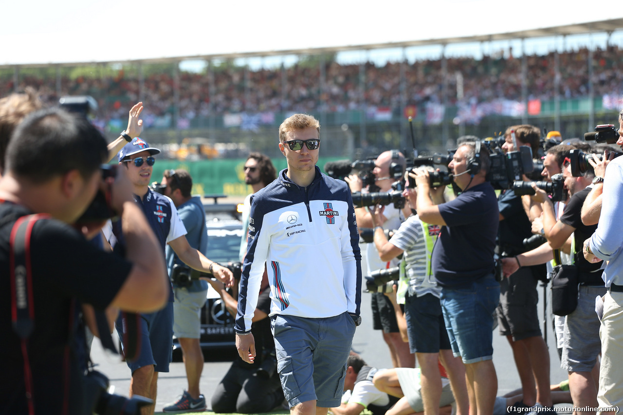 GP GRAN BRETAGNA, 08.07.2018- Driver parade, Sergej Sirotkin (RUS) Williams F1 Team FW41