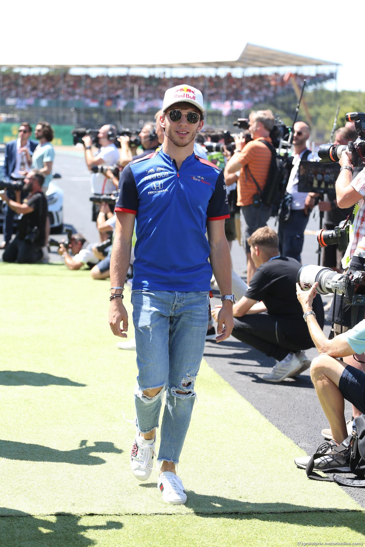 GP GRAN BRETAGNA, 08.07.2018- driver parade,  Pierre Gasly (FRA) Scuderia Toro Rosso STR13