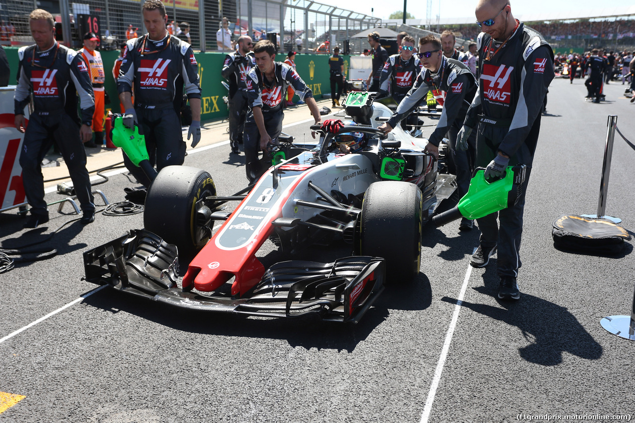 GP GRAN BRETAGNA, 08.07.2018- Gara, Romain Grosjean (FRA) Haas F1 Team VF-18
