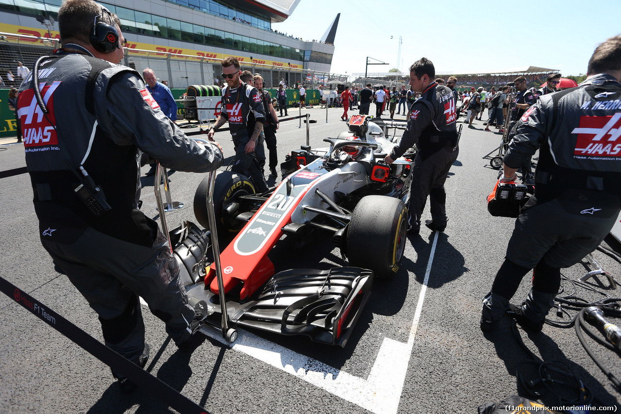 GP GRAN BRETAGNA, 08.07.2018- Gara, Kevin Magnussen (DEN) Haas F1 Team VF-18
