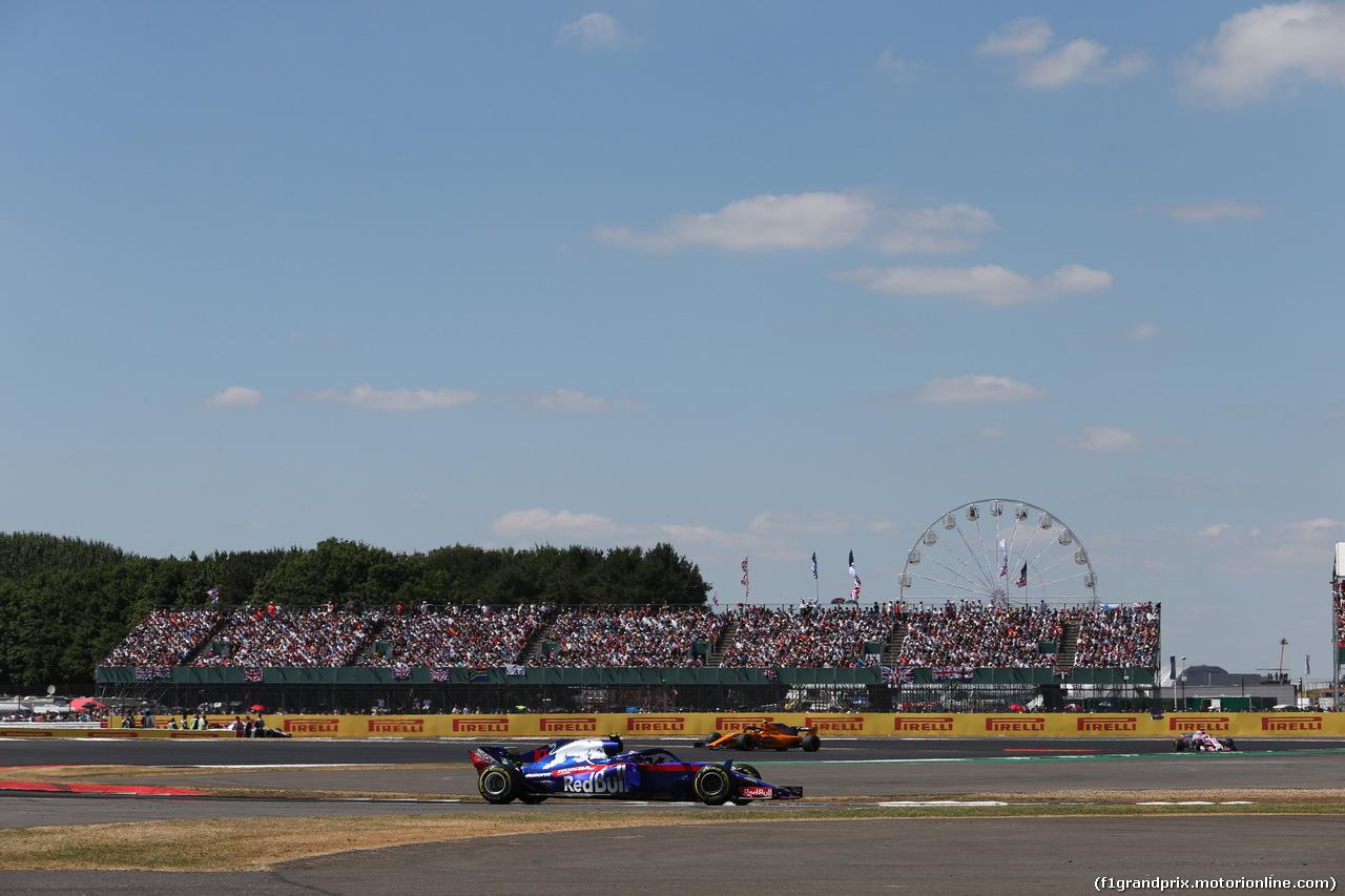GP GRAN BRETAGNA, 08.07.2018- Gara, Pierre Gasly (FRA) Scuderia Toro Rosso STR13