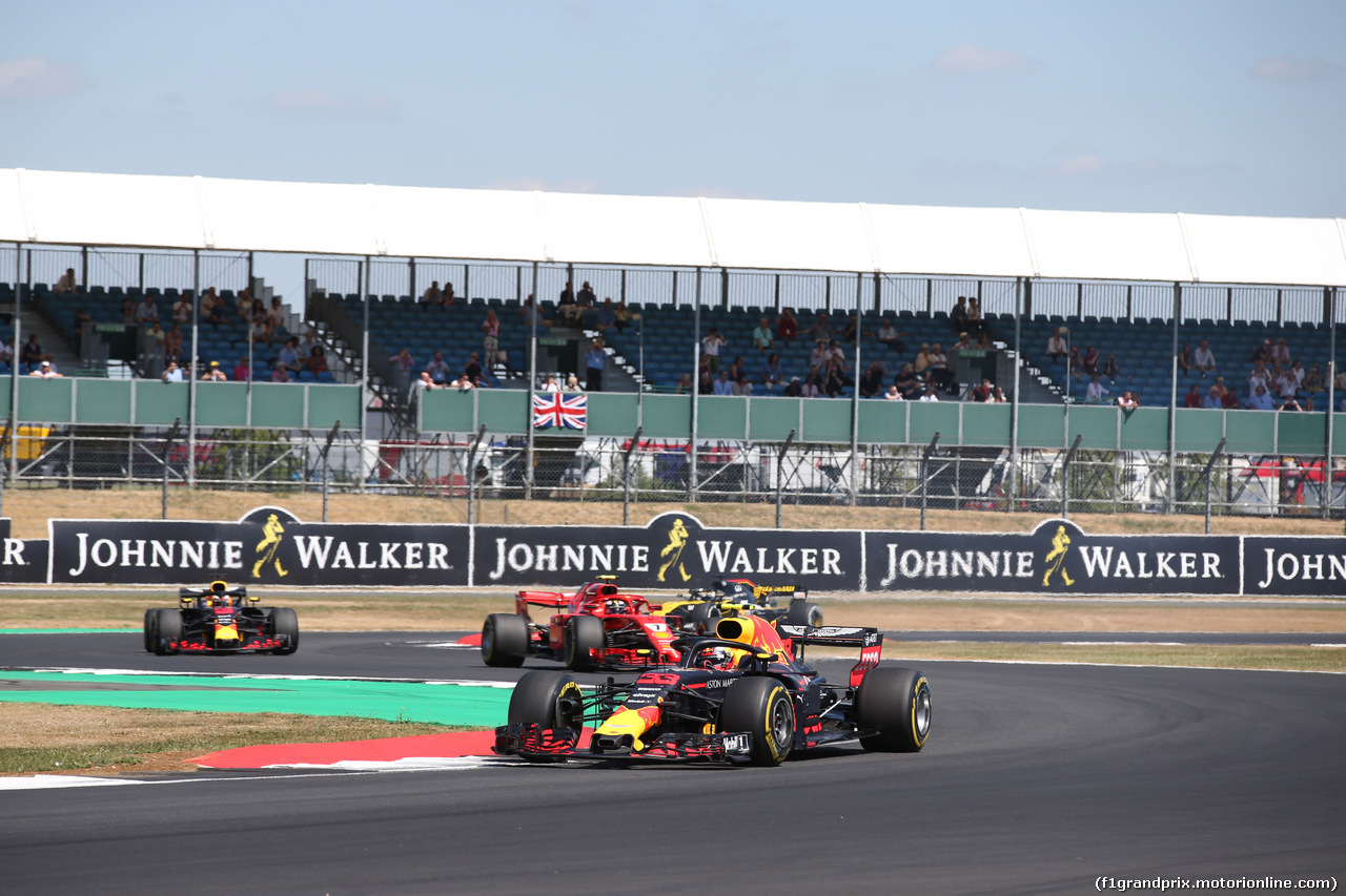 GP GRAN BRETAGNA, 08.07.2018- Gara, Max Verstappen (NED) Red Bull Racing RB14