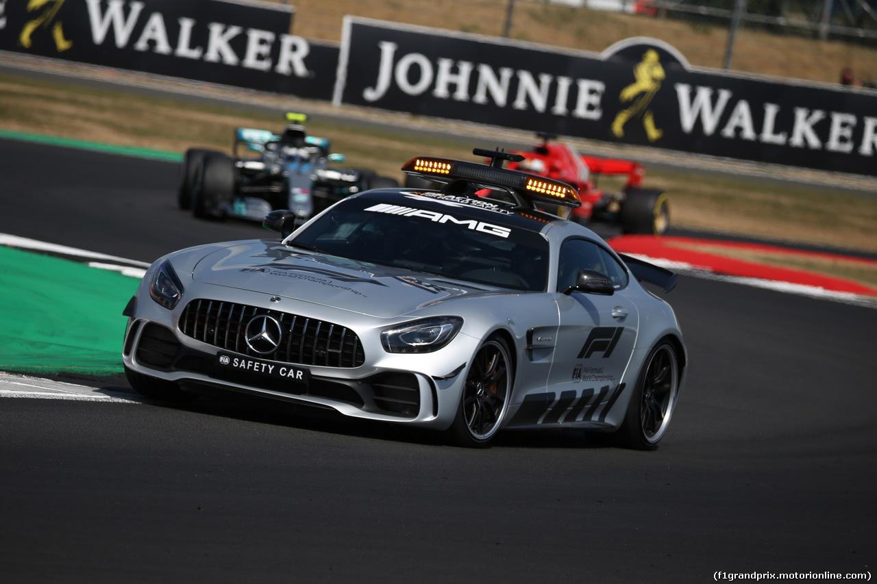 GP GRAN BRETAGNA, 08.07.2018- Gara, The safety car davanti a the group