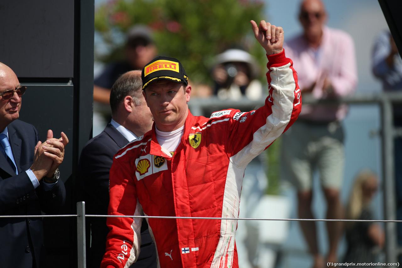 GP GRAN BRETAGNA, 08.07.2018- podium, 3rd place Kimi Raikkonen (FIN) Ferrari SF71H